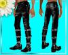 Leather Chain biker pant