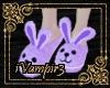 [DA] Bunny Slippers Purp