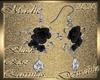 !a DRV Blk Rose Earrings