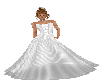 Long Silver/White Gown