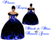 dark blue flamed gown