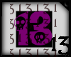 13 Skull Purple Drk BlkB