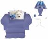 Light Blue Wolf Chair