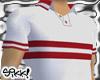 602 White Textured Polo