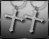 Earrings Gothic Cross