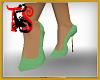 TS Mint Glitter Heels