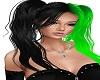 black ngreen harley hair