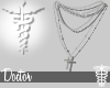 ☤ Silver Cross Chains