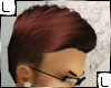 Burgundy tip hair