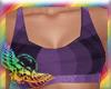 Purple Tartan Sports Bra
