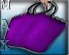 Purse Beach Hand Purple