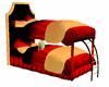 Bunk Bed..red/orange