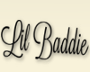 Lil baddie head sign