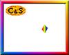 C&S Rainbow Dot Sign