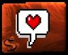 |S| Heart Chat Bubble