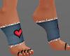 H/Denim Heart Socks