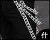 什. Silver long chain