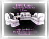 Pink Striped Sofa Set