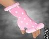 Winter Pink Fuzzy Gloves