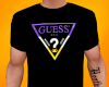 Black Guess Logo Tee