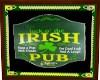 Luck O' Irish Pub Sign