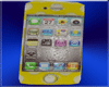 iphone 4 yellow pokadots