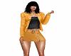 giacca di pelle ocra+top