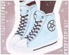 F. Pentagram Shoes Blue