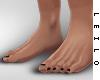 ! L! Feet ~ Black Nails