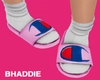Champion Pink Slides