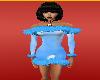 l blue dress +furr