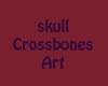 Skull cross bones art02