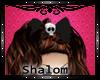 skull black bow