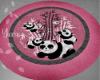 Panda round rug