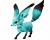 Teal Kitsune Fox