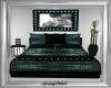 Teal Lovers Bed