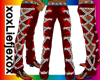 [L] Chain Red Pants M