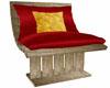 Stone Patio Chair w Cush