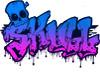 Graffiti Wall Skull