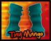 -TM- Teal Arm Warmers