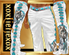 [L] White WOLF 2 Pants M