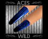 [AW] Long Blue Nails SH
