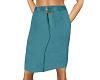 TF* Teal Straight Skirt