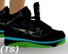 (TS) Blk Blu Lime Nikes
