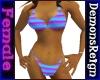 Bikini-PrplCyan Striped