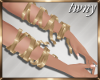 Gold Arm Ribbons