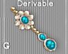 T l DEV - Aqua Earrings