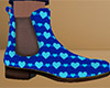 Heart Chelsea Boots 6 M