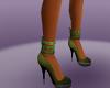 Green Spike High Heels