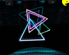 80's neon triangle light